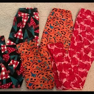 Lu La Roe holiday leggings bundle